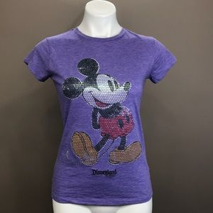 DISNEY Sequin Mickey Mouse Tee Size XL